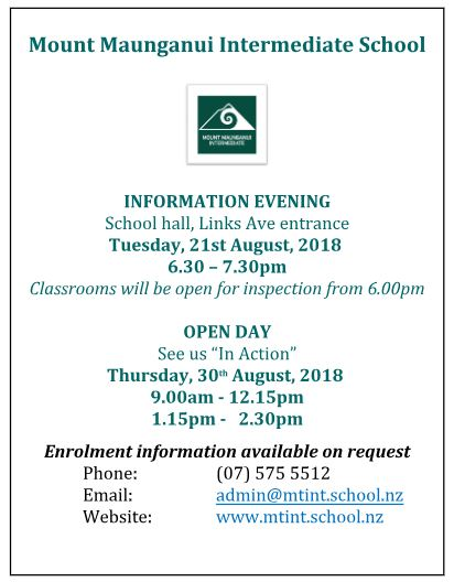 INFORMATION EVENING AND OPEN DAY FOR WEBSITE