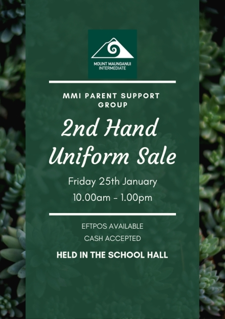 2ND HAND UNIFORM SALE 2019 POSTER